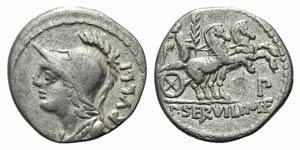 P. Servilius M.f. Rullus, Rome, 100 BC. AR ...