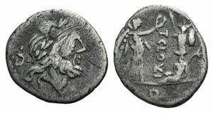 T. Cloulius, Rome, 98 BC. AR Quinarius ...