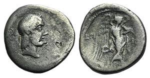 L. Calpurnius Piso Frugi, Rome, 90 BC. AR ...