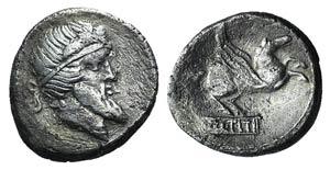 Q. Titius, Rome, 90 BC. AR Denarius (16mm, ...