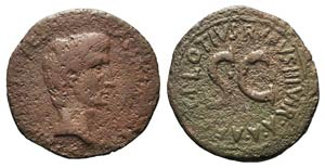 Augustus (27 BC-AD 14). Æ As (27mm, 9.62g, ...