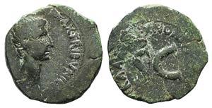 Augustus (27 BC-AD 14). Æ As (26mm, 11.83g, ...
