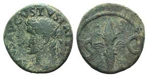 Divus Augustus (died AD 14). Æ As (26mm, ...
