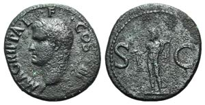 Agrippa (died 12 BC). Æ As (28mm, 11.11g, ...