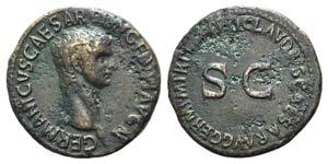 Germanicus (died AD 19). Æ As (29mm, ...