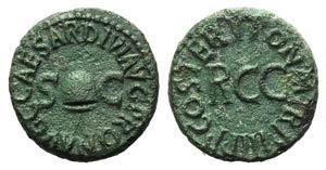 Gaius(Caligula, 37-41). Æ Quadrans ...