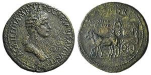 Agrippina Senior (died AD 33). Æ Sestertius ...