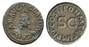 Claudius (41-54). Æ Quadrans (17mm, 3.73g, ...