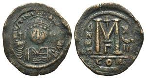 Justinian I (527-565). Æ 40 Nummi (36mm, ...