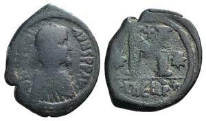 Justinian I (527-565). Æ 40 Nummi (34mm, ...