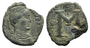 Justinian I (527-565). Æ 40 Nummi (27mm, ...