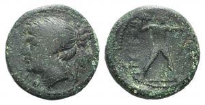 Bruttium, The Brettii, c. 214-211 BC. Æ ...