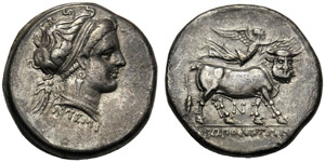 Campania, Didrachm,Neapolis, c. 300-275 BC; ...