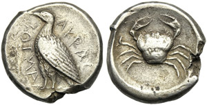 Sicily, Tetradrachm, Akragas, c. 471-430 BC; ...