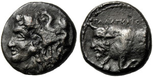 Sicily, Bronze, Agyrion, c. 334-336 BC; AE ...