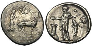 Sicily, Tetradrachm, Himera, c. 440-425 BC; ...