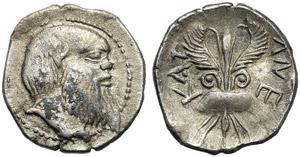 Sicily, Litra, Katane, c. 450-430 BC; AR (g ...