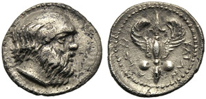 Sicily, Litra, Katane, c. 405-403 BC; AR (g ...
