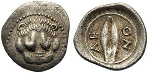 Sicily, Litra, Leontinoi, c. 485-466 BC; AR ...