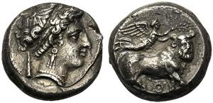 Campania, Didrachm, Neapolis, c. 300-275 BC; ...