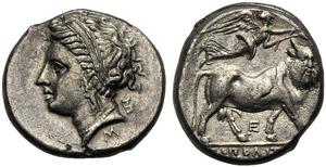 Campania, Didrachm, Neapolis, c. 275-250 BC; ...