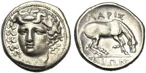 Thessaly, Drachm, Larissa, c. 350-340 BC; AR ...