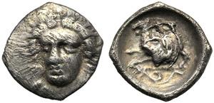 Campania, Obol, Phistelia, c. 325-275 BC; AR ...