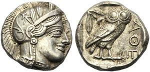 Attica, Tetradrachm, Athens, After 449 BC; ...