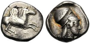 Corinthia, Stater, Corinth, c. 447-440 BC; ...