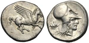 Corinthia, Stater, Corinth, c. 415-387 BC; ...