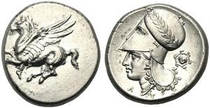 Corinthia, Stater, Corinth, c. 345-307 BC; ...