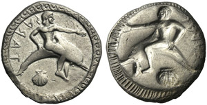 Apulia, Nomos, Tarentum, c. 510-500 BC; AR ...