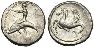 Apulia, Nomos, Tarentum, c. 470-450 BC; AR ...