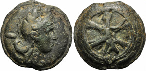 Anonymous, Cast As, Rome, c. 230 BC; AE (g ...