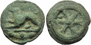 Anonymous, Cast Quadrans, Rome, c. 230 BC; ...