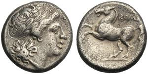 Anonymous, Didrachm, Rome, 234-231 BC; AR (g ...