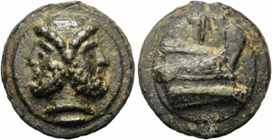 Anonymous, Cast As, Rome, 225-217 BC; AE (g ...
