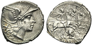 Anonymous (female head series), Denarius, ...