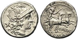C. Maianus, Denarius, Rome, 153 BC; AR (g ...