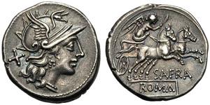Spurius Afranius, Denarius, Rome, 150 BC; AR ...