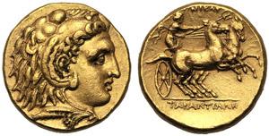 Apulia, Stater, Tarentum, c. 276-272 BC; AV ...