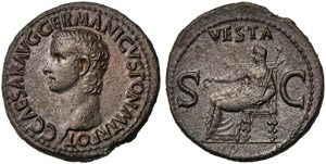Gaius, called Caligula (37-41), As, Rome, AD ...