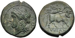 Campania, Bronze, Suessa Aurunca, c. 265-240 ...