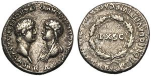 Nero (54-68), Denarius, Lugdunum, October - ...