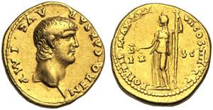 Nero (54-68), Aureus, Rome, AD 60-61; AV (g ...