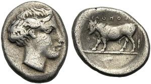 Campania, Didrachm, Neapolis, c. 450-420 BC; ...