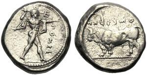 Lucania, Stater, Poseidonia, c. 445-420 BC; ...