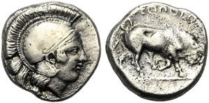 Campania, Didrachm, Neapolis, c. 420-400 BC; ...