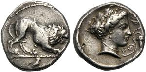 Lucania, Didrachm, Velia, c. 400-340 BC; AR ...