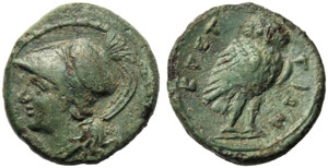 Bruttium, The Brettii, Obol, c. 215-210 BC; ...